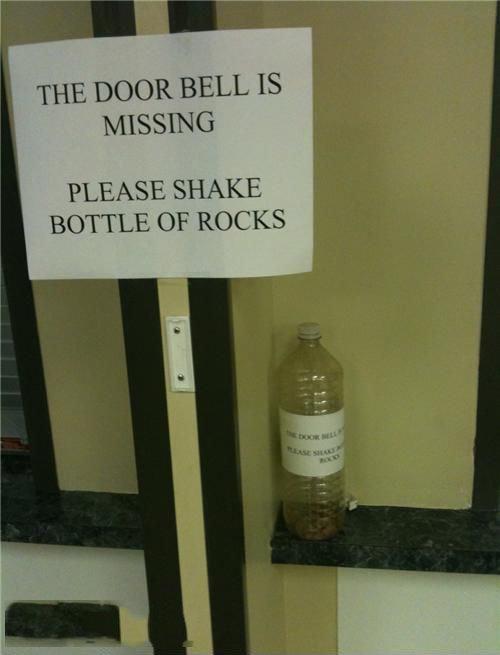 Missing Door Bell. .