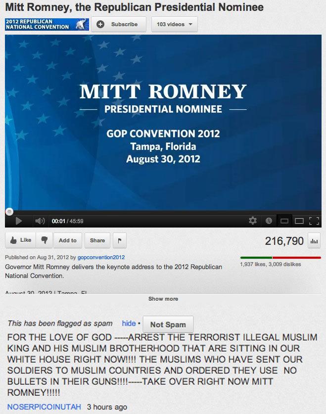 Mitt Romney Youtube Comment.... Funny youtube comment.... Mitt Rom ney, the Republican Presidential Nominee REPUBLICAN can '' ' hgttec 103 hald. T MITT ROMNEY Z