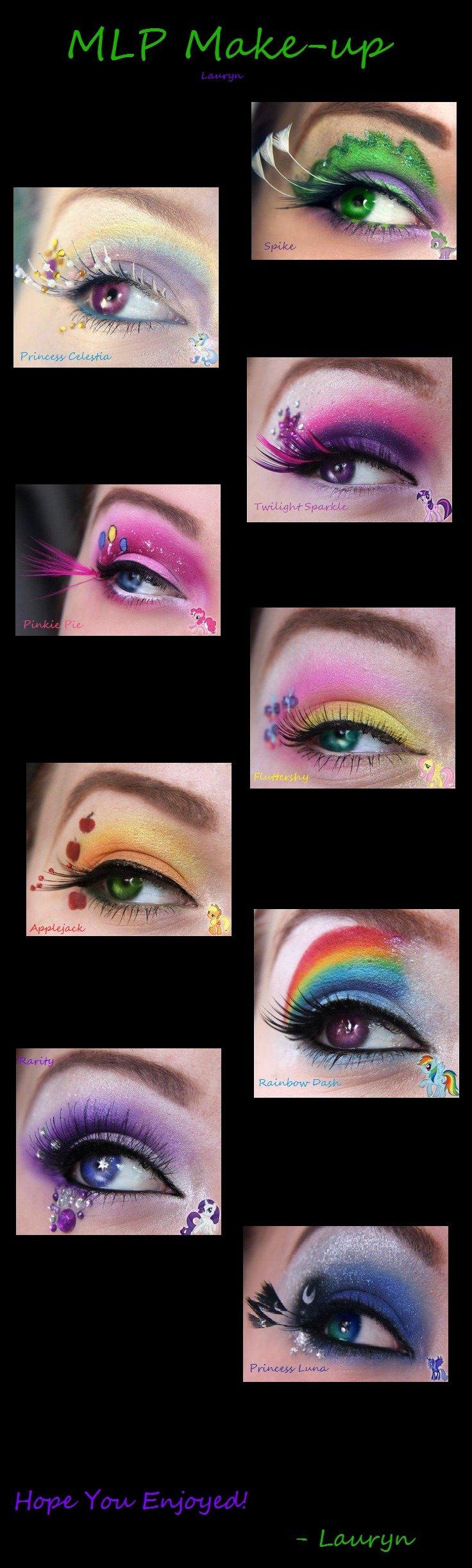 MLP Make-up. Hope you like.. Suddenly: Men all over the world starts wearing make up.