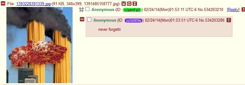 "Mom's spaghetti. . MI CI Anonymousity: )02/ ) 01: 5361 No. 534203286 "" never"