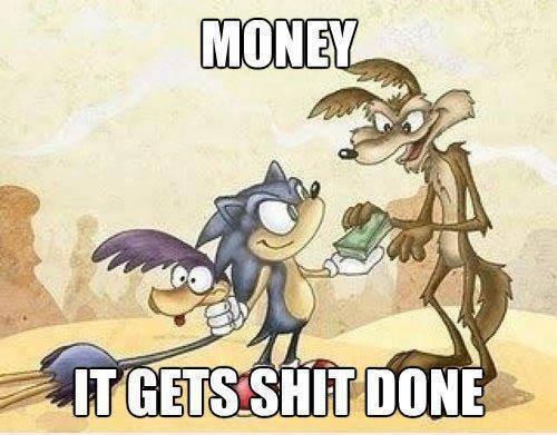 Money and Teamwork. .