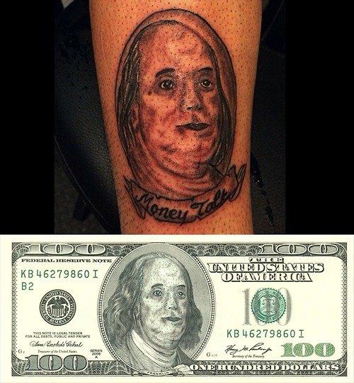 Money talks. Tags are a lie. teii' E. Bonjomon Fronklon description is a