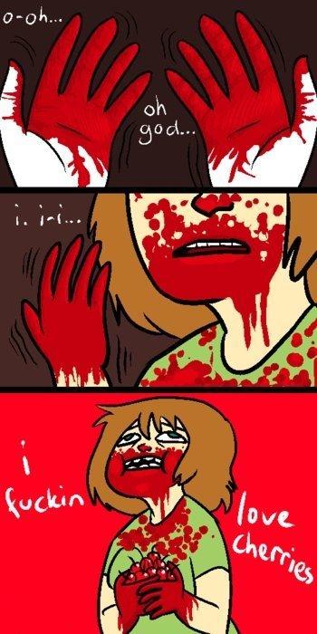 morbid. .. period joke morbid red