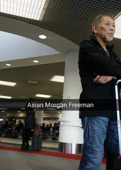 Morgan Freeman. . Asian Morgan Freeman. God exists in many forms