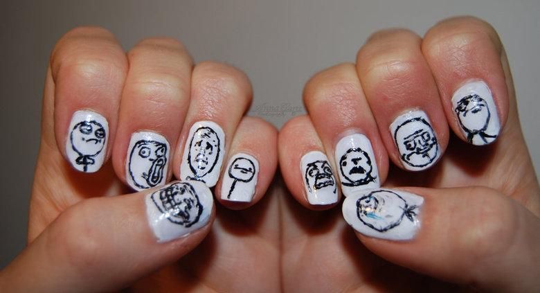 mothafuckin meme nails!. sauce: .. Fixed meme nails aweso