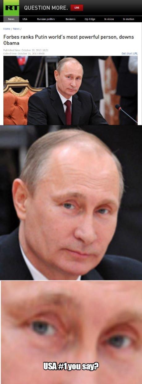 Mother Russia is always #1. . Furher ranks Putin world' s most 'lib! person, dawns Dhaka. Putin #1