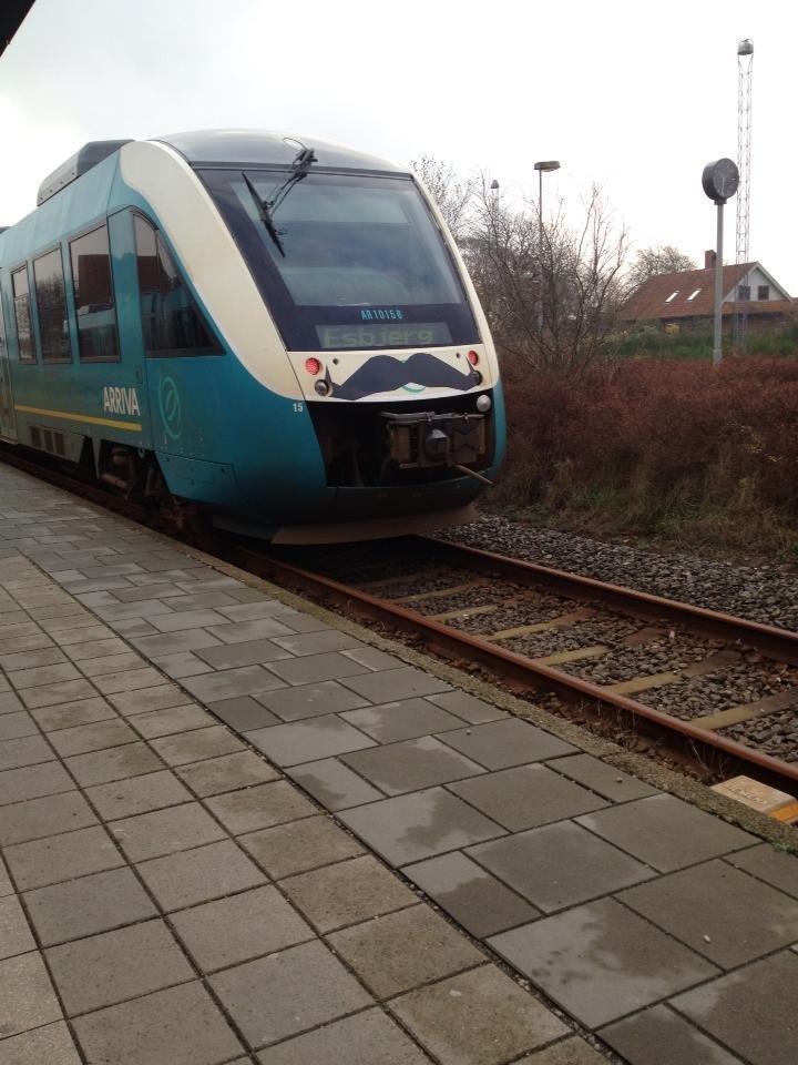 Movember train. Danish train company supporting Movember.. Hi.
