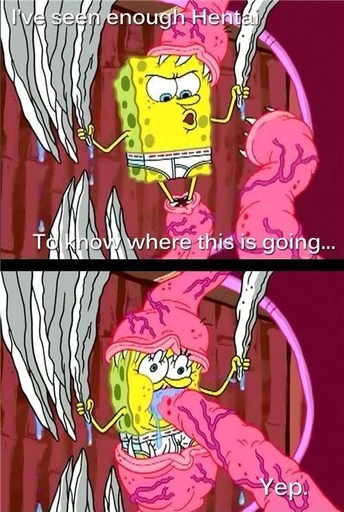 Mr. Sponge. Spongesbob on a trip!.