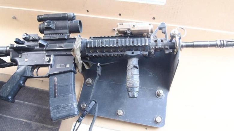 My M4. Just a pic of my M4 up in the turret with me... Looks quite used.