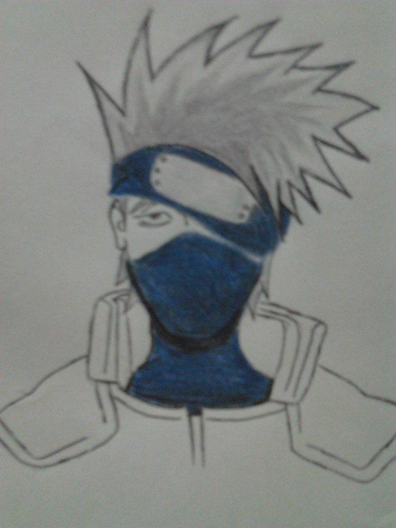 My Drawing , Kakashi Sensei. .. I like it, but like I said on your Jiraiya drawing, it will be appreciated on the art and anime boards.