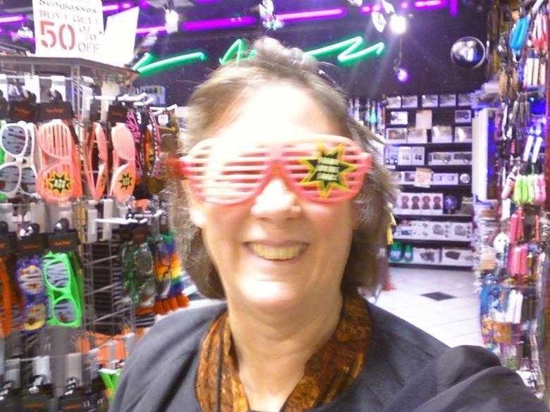 My grandma in Spencers. My grandma is so thug.