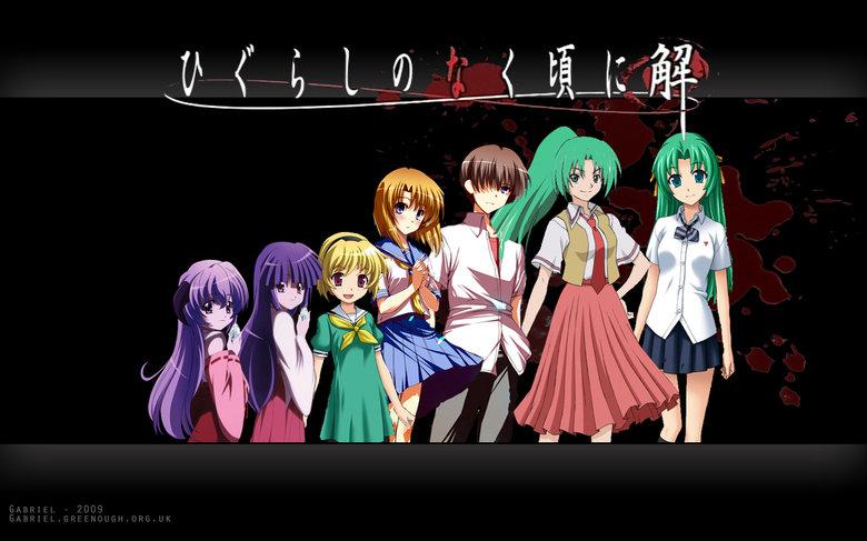 My Halloween Show. I always wind up watching this around Halloween. en.wikipedia.org/wiki/Higurashi_When_They_Cry < Source.