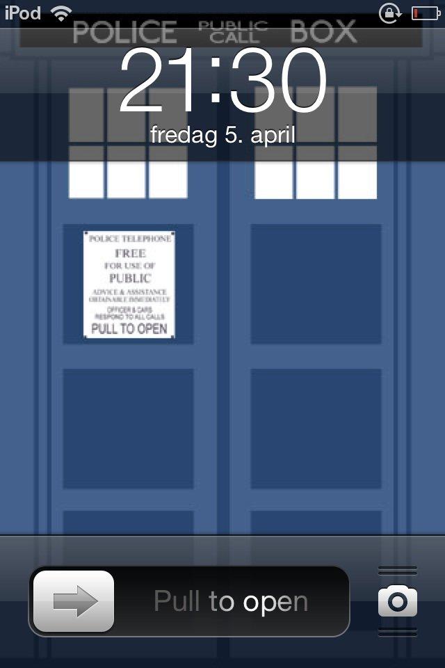 My ipod. My ipod. Jailbreak for custom slider.