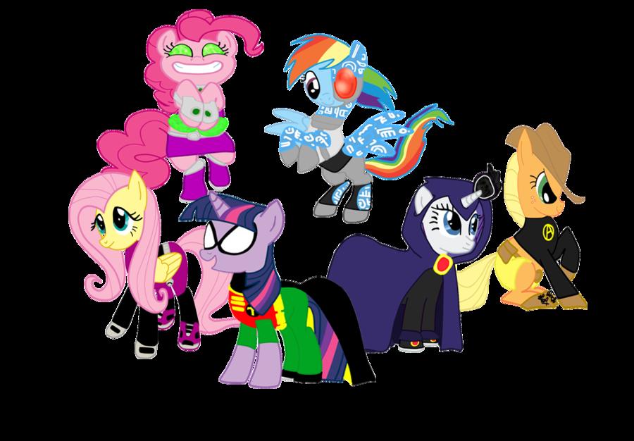 my little pony teen titans. .