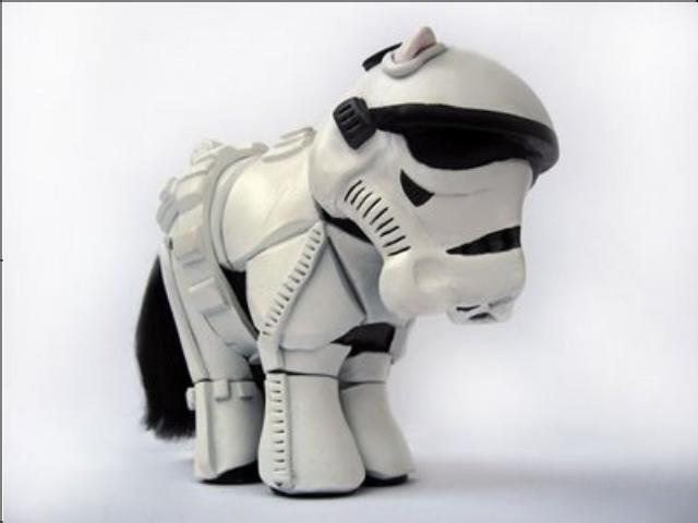 My little storm trooper. .