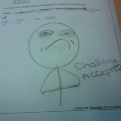 my mate's math test. .