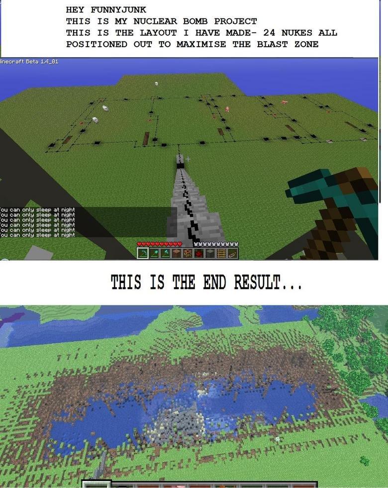 My Minecraft Nuke Project [read des]