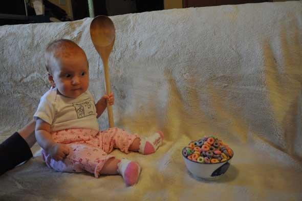 My spoon is too big. For my BOWL!!! D:.. I'm a Banana! My Spoon is too big