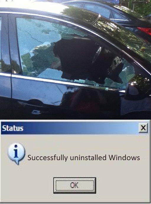 My poor car. Yeah, someone broke into my car.. Successfully ,t' ltt' Windows TTWTT TTCHTT Trs