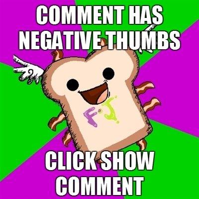 Negative Comment thumbs. .. top 200 :D