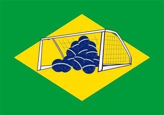 New brazilian flag. Bra71L.. Neudeutsche Kolonie Brasilien - Ein Platz in Südamerika für Deutschland Soccer Football whatevver