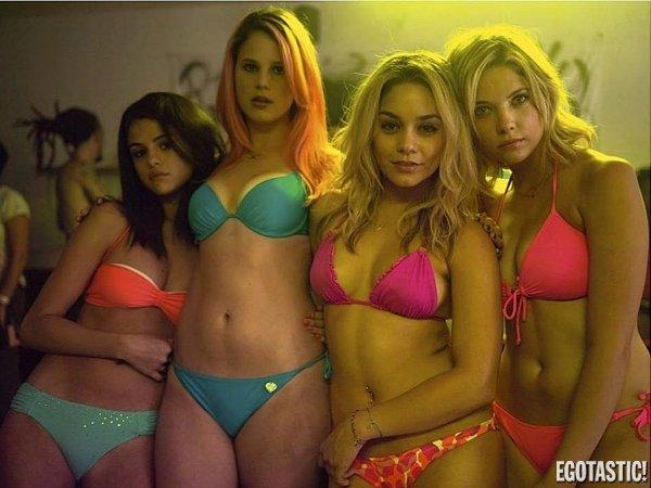 New Spring Break Movie. Selena Gomez, Vanessa Hudgens, Ashley Benson, Rachel Korine These are the roles Disney stars play after they leave Disney.. please please please please please please have nude scenes
