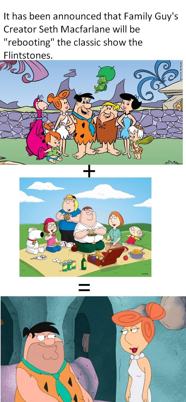 New Flintstones (read descrip). Source: marquee.blogs.cnn.com/2011/05/17/seth-macfarlane-to-reboot-the-flintstones/?hpt=Sbin I hope it dosen't suck a donkey dic family guy FLINTSTONES