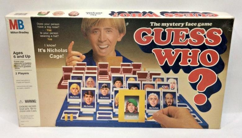 Nicholas Cage. Best board game I've ever played. I afrai! lii tula parta Hm Nikolai Cage