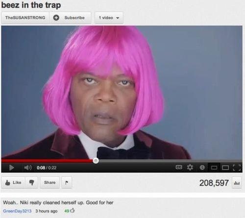 Nicki Minaj. description. NNE 1 run 'dii Mk', funny Nicki Minaj youtube surprise motherfucker
