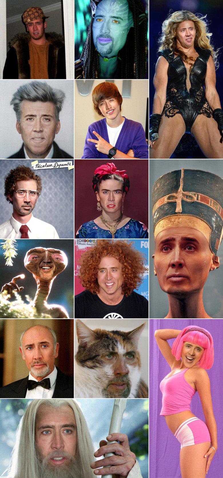Nicolas Cage as everyone. Source: .. Is that Nicolas Lynch?!