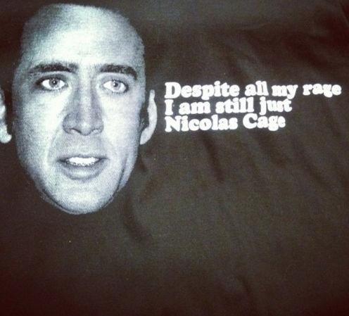 Nicolas Cage. Not OC Might be repost..