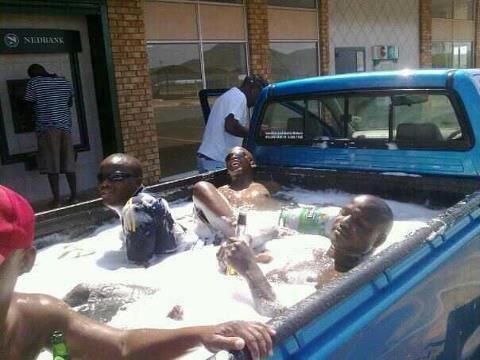 Nigga hot tub. .. Cooling beer in a hot tub, logic...