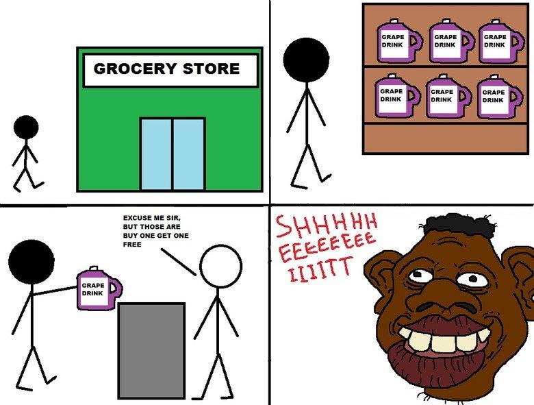 Niggers be trippin. .