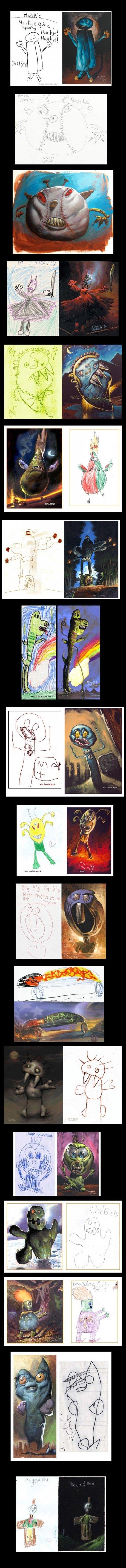 Nightmare Drawings. .. Who you callin' pinhead?