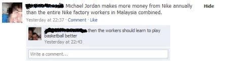 "Nike Factory Workers. . a Jordan makes mare mane? ham Nike were I than the antler Felike factory waters In Malaya unmanned. iid ral 77: 37 "" -Lila: better Yeste Nike Basketball MICHAEL jordan factory funny lol"