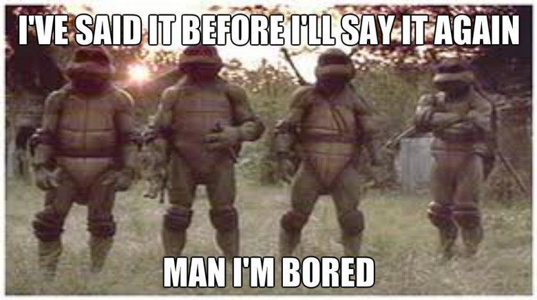 Ninja Turtle Boredom. .. The pixels...D: