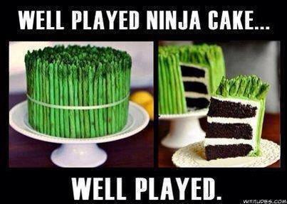 """Ninja Cake. . WELL PLAYED NINJA BAKE... WELL PLAYED. """" I"""