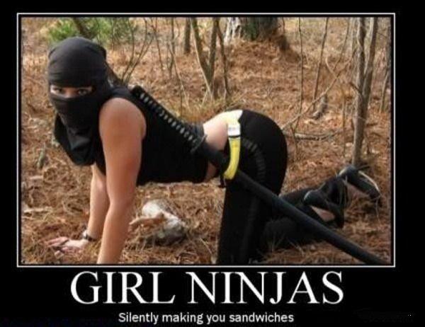 Ninja Girl. . Silently making you sandwiches