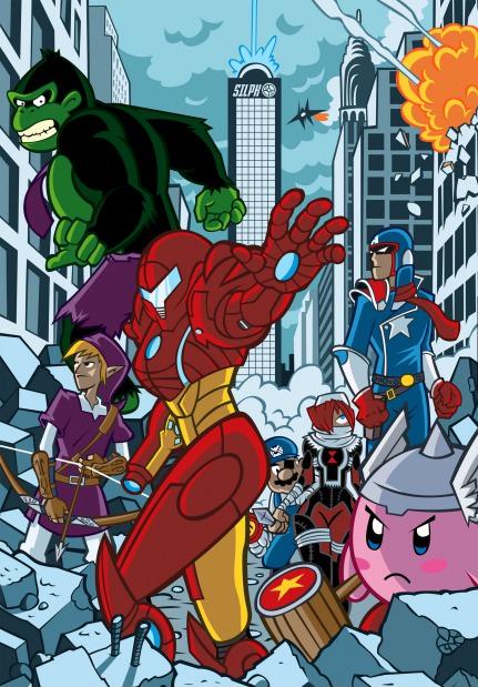 Nintengers. The Avengers, Nintendo style... Captain Falcon is best captain Nintendo avengers