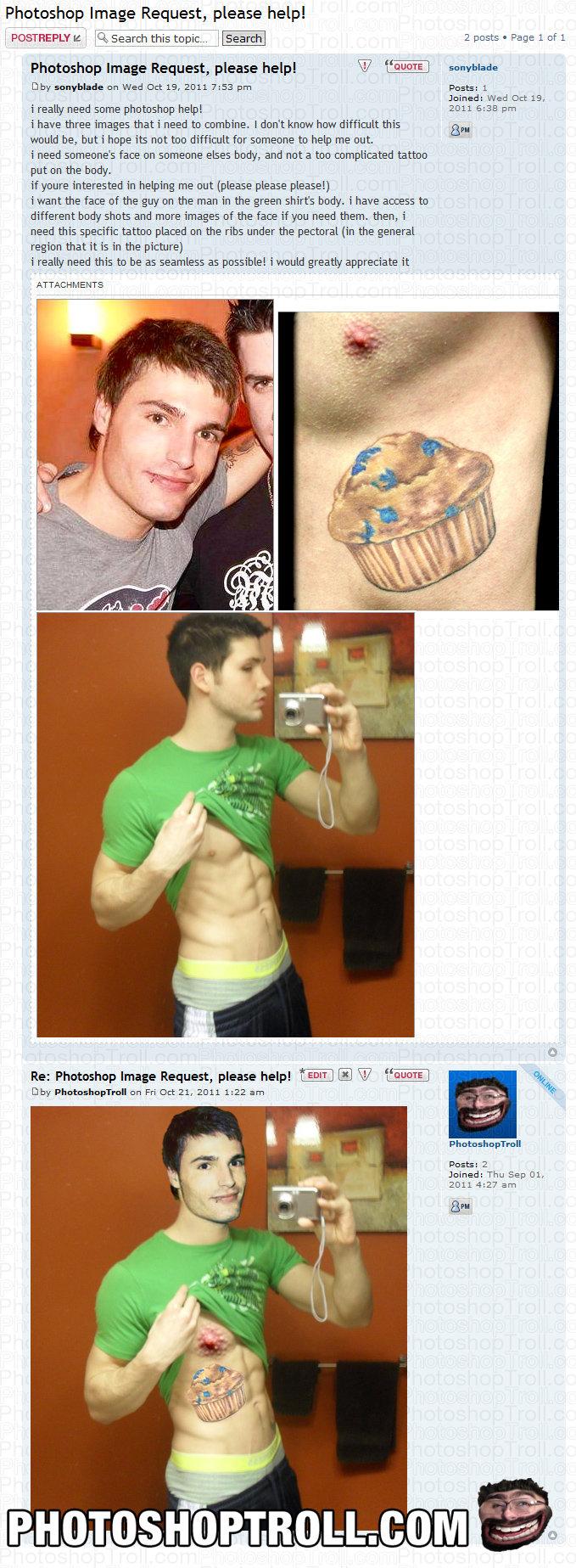 "Nipple Tatoo. by photoshoptroll. Photoshop Image Request, please help! Photoshop Image Request, please helm Nja ""WHITE Chat LB, i really need some photoshop hel Photoshop troll"