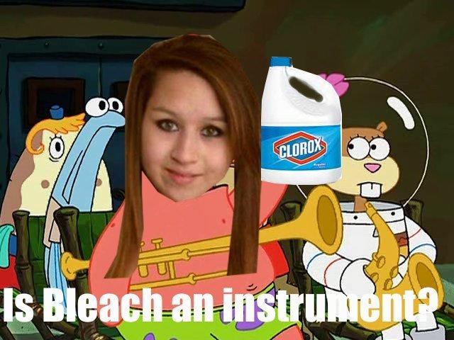 No, it's not. no Amanda, bleach is not an instrument.. penis kapkake