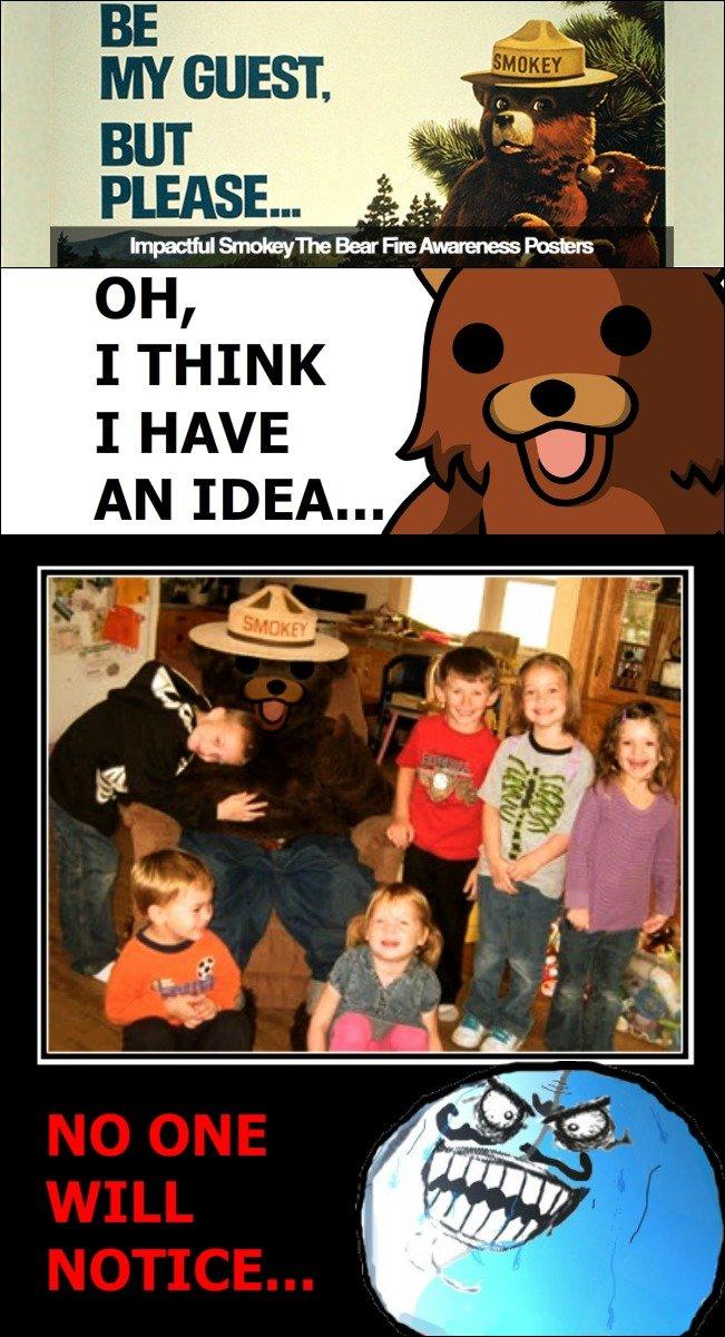 No One Will Notice. Pedo bear strikes back!. I THINK I HAVE PEDO BEAR Photoshop