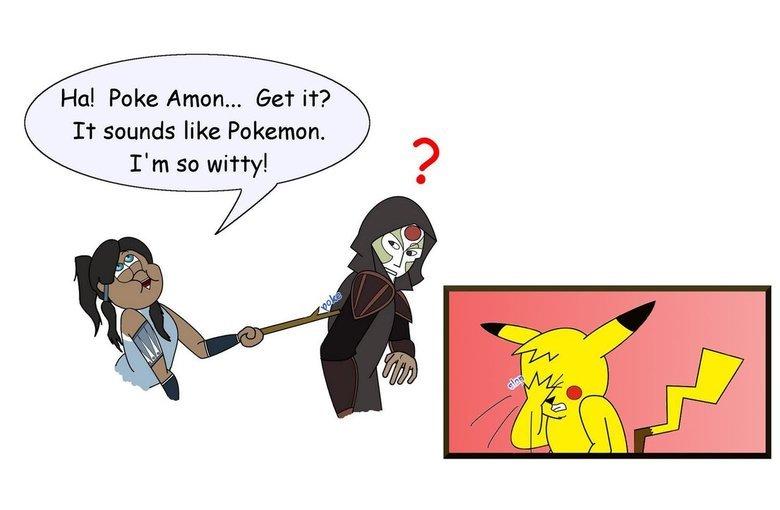No punchline here. fav.me/d5260r2. Hal Poke Anton... Get it? It sounds like Pokemon. I' m so witty!. bro, it was just a joke.....