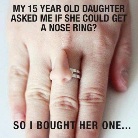 Nose ring. . troll Mom nose ring