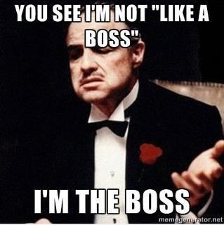 """Not Like a Boss, but I'm THE Boss. I'm the Boss.... SEE PM MT """"UK! A Boss"""