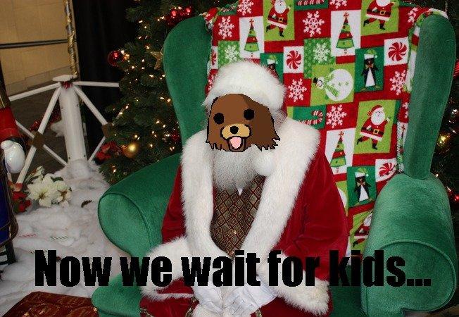 Now We Wait For Kids. Pedobear has a new job. Watch out, kids.... pedobear Santa Costume now we wait for kids department store