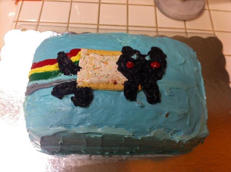 Nyan Cake. Made this cake for my sister's 18th Birthday!. nyan Cake poptart blue cat Food Birthday black people