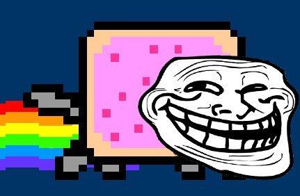 Troll Nyan Cat Gif Nyan Cat Troll Face Gif Troll