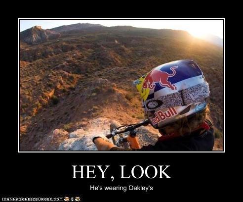 Oakley's. . BMX Jump Oakleys