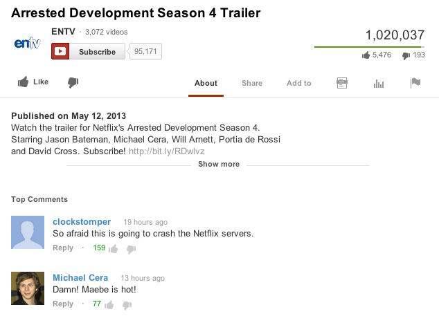 Oh, George Michael. . Arrested Development Season It Trailer if Him . Abotut sham Addeo El 4... [I Published on , 2{ Watch the trailer fer Arrested Development